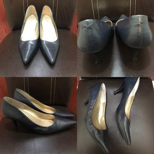 Nine & Co Pointy Pump Heels Classic Sz 9 Navy Blue
